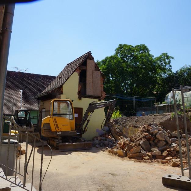 Construction de l'école maternelle de Bernarvillé