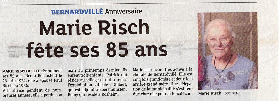 85 ans Marie Risch Bernardvillé (Copier)