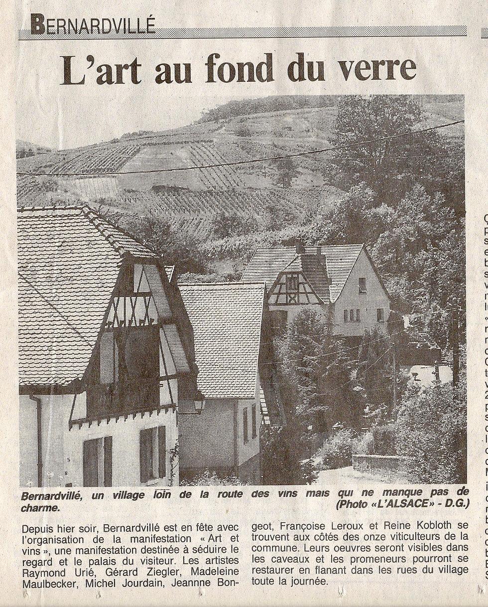 Arts au fond du verre  Bernardvillé  (Co