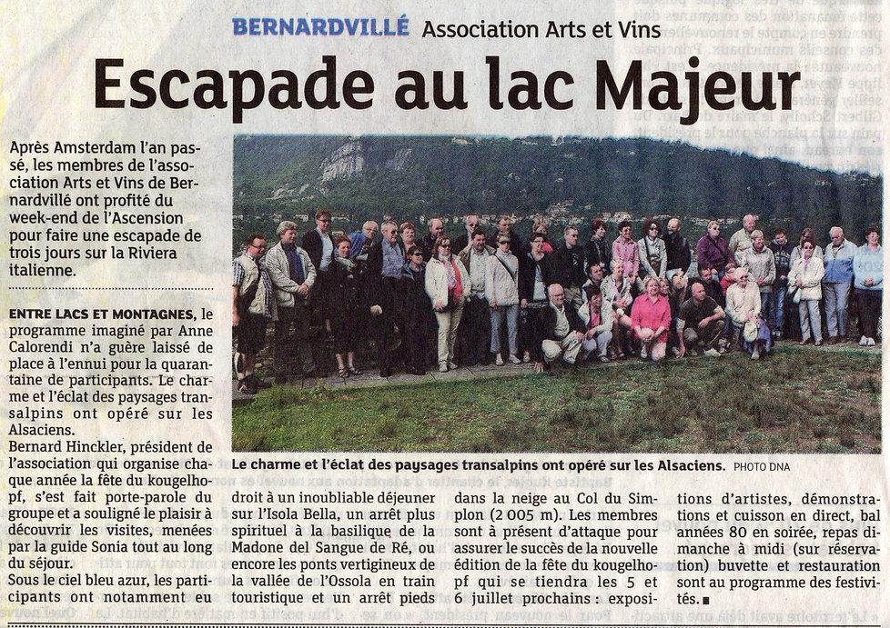 Arts et vins au lac Majeur Bernardvillé