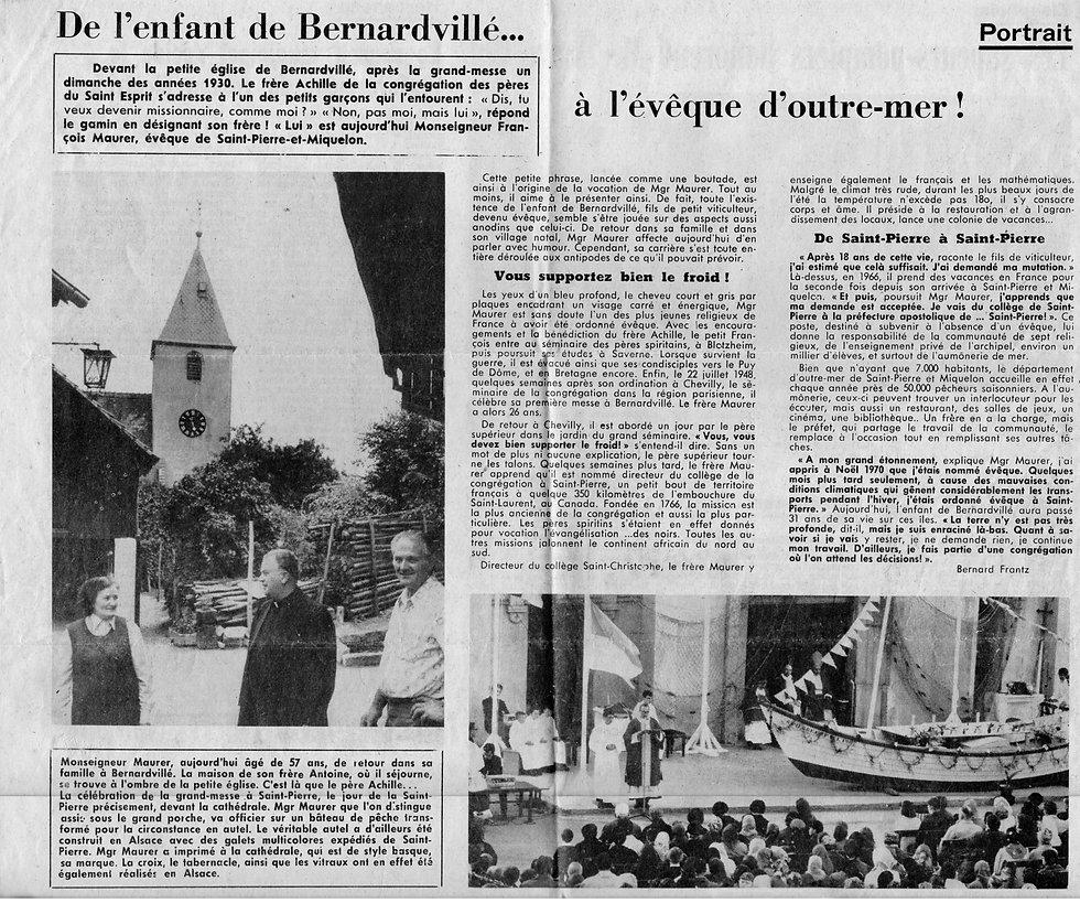 Mgr Maurer François en visite chez son f