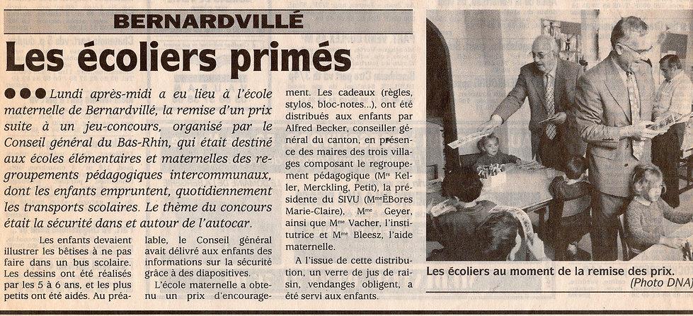 Les écoliers primés  Bernardvillé (Copie