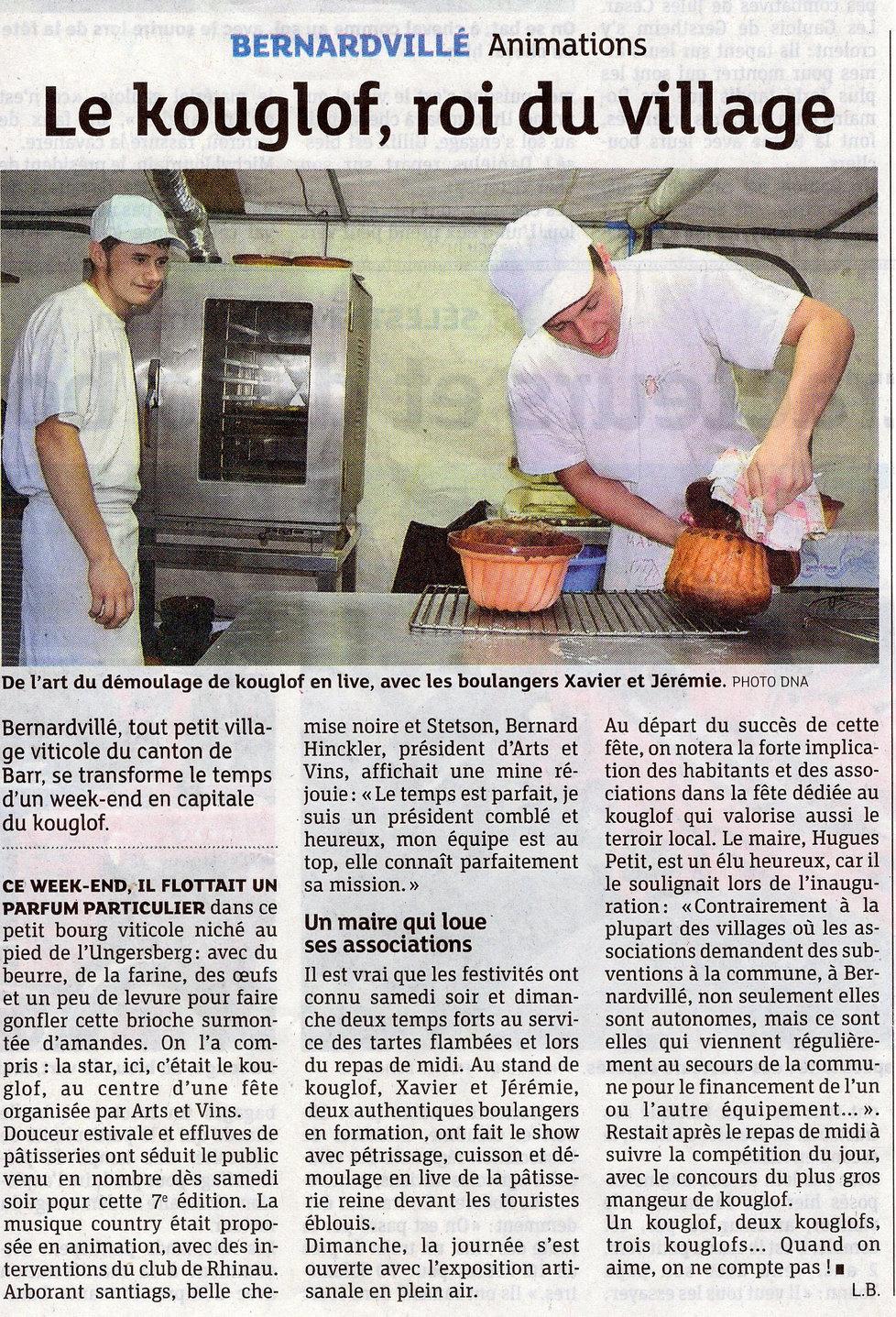 Le Kouglof en plein démoulage 2013 Berna