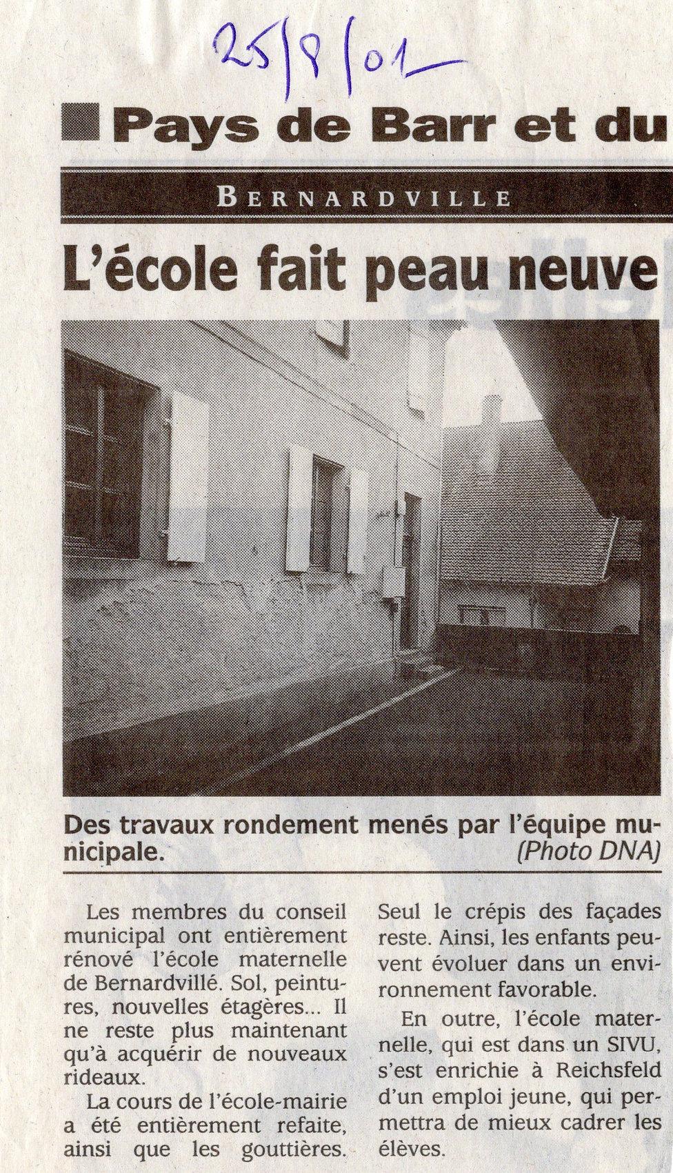 Rénovation école 2001 Bernardvillé (Copi