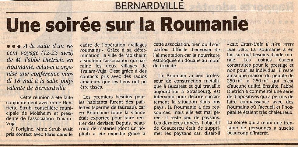 Paul Dietrich conférence sur la Roumanie