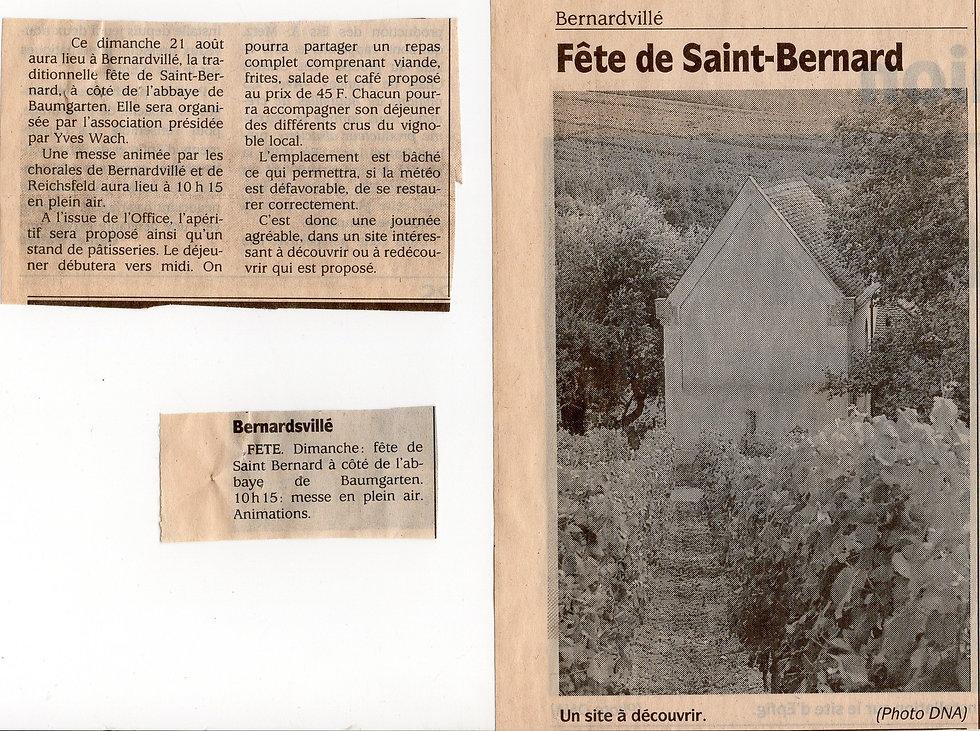 Fête de st Bernard à Bernardvillé (Copie