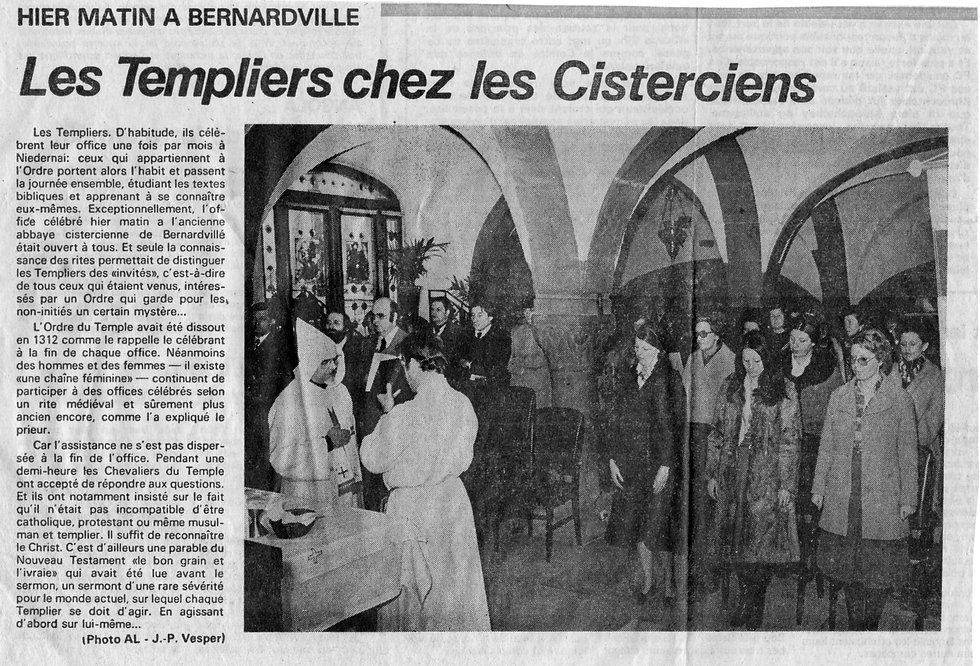 Les templiers chez les Cisterciens Abbay
