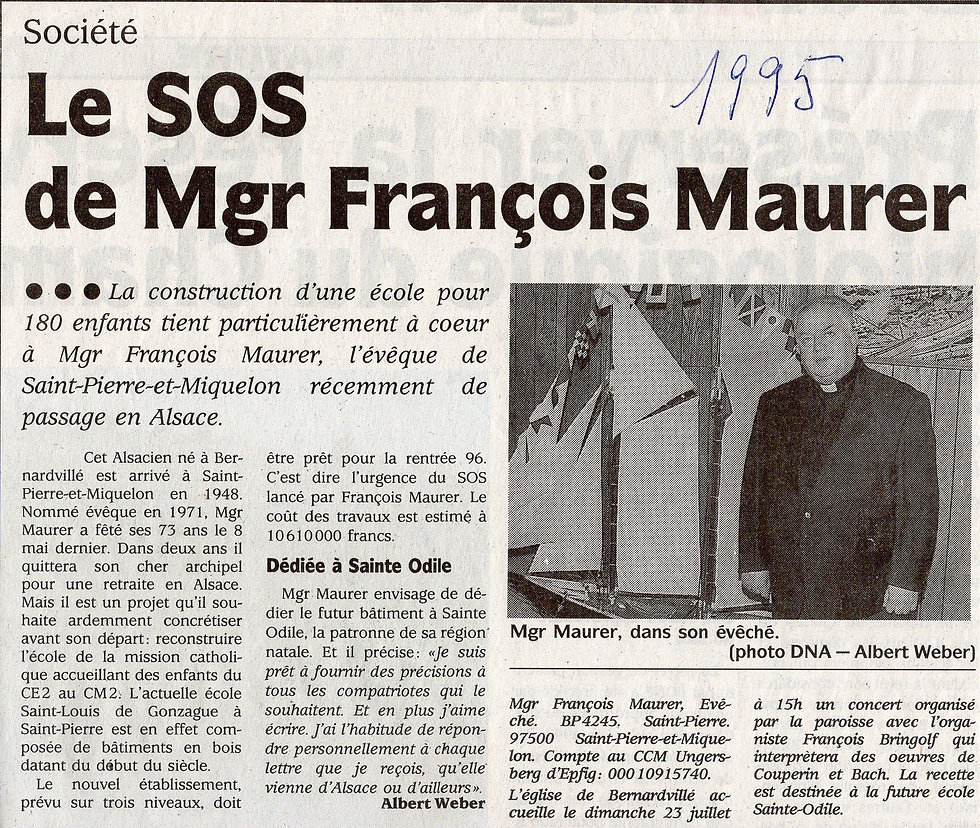 L'appel aux dons Mgr Maurer François (Co