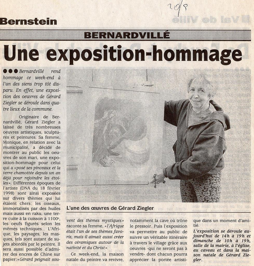 Exposition en hommage de Gerard Ziegler