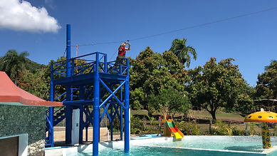 Pool Zip Line | Country World Adventures Tours | Puerto Plata