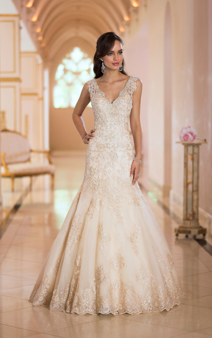 Stella York Gold Wedding Dress 5922