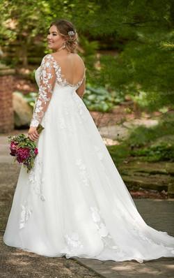 Plus Size Lace Sleeve Wedding Dress