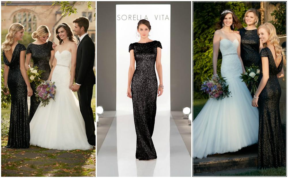 Black sequin bridesmaids dresses Ireland