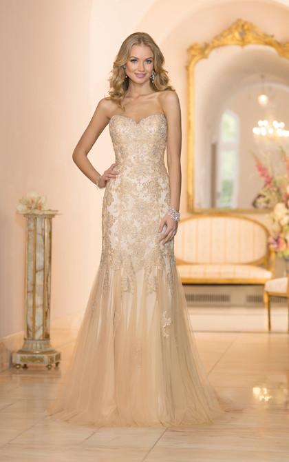 Stella York Gold Wedding Dress 5986