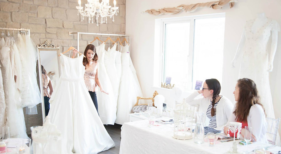 Inside Pearls and Lace Bridal Boutique