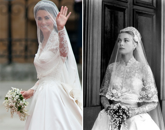 Princess Grace, Kate Middleton Wedding Dress