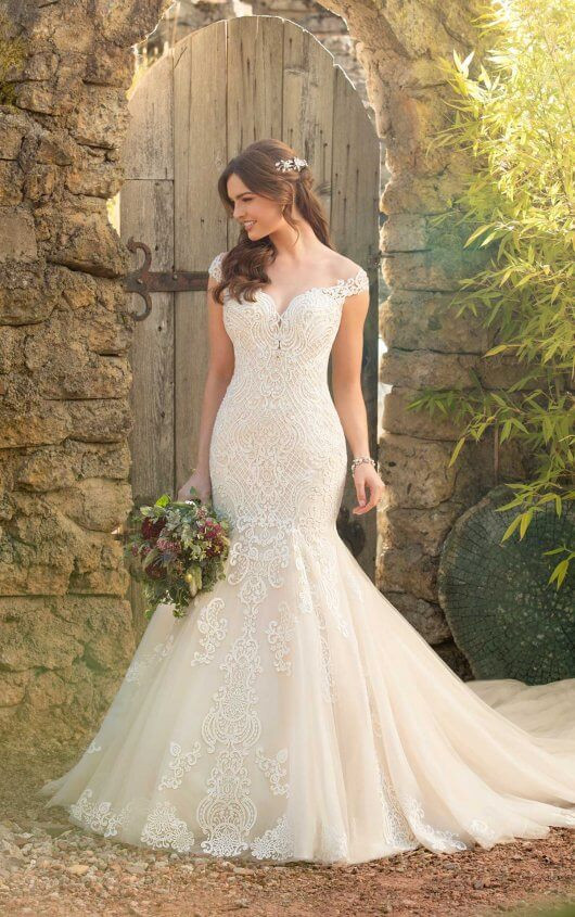 Fitted Plus Size Wedding Dress by Essense