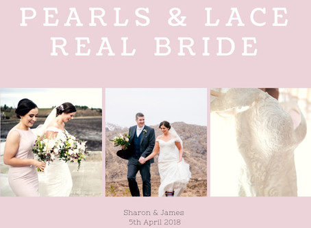 Sharon & James - Pearls & Lace Bride