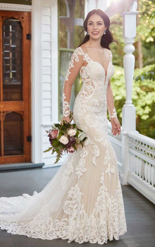 Gorgeous Long Sleeve Lace Wedding Dress