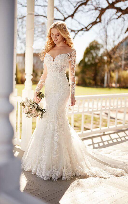 Martina Liana Long Sleeve Wedding Dress