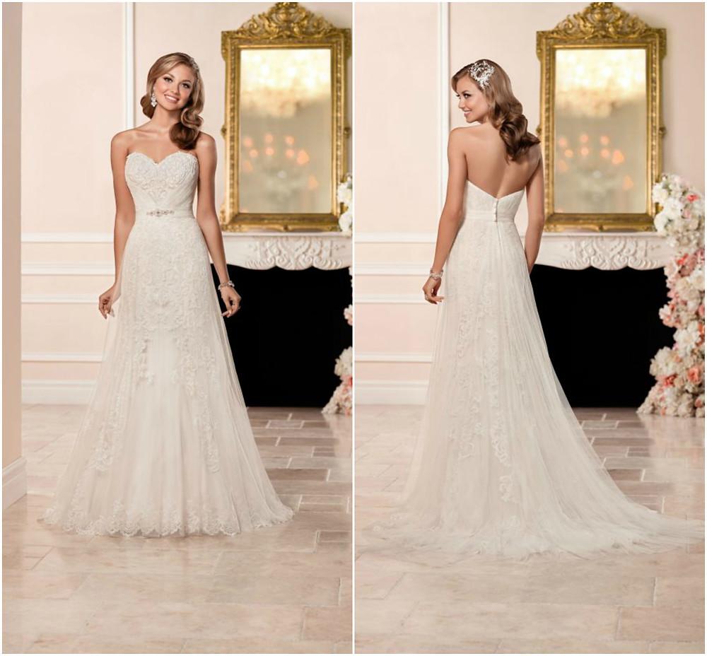 Stella York 6341 Wedding Dress Front & Back