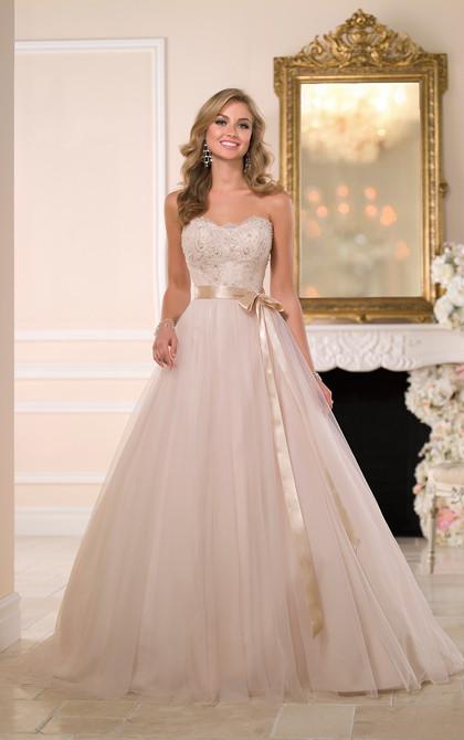 Stella York 6028 Gold Wedding Dress