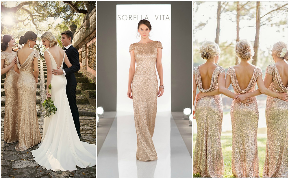 Gold Sequin Bridesmaids Dresses Ireland