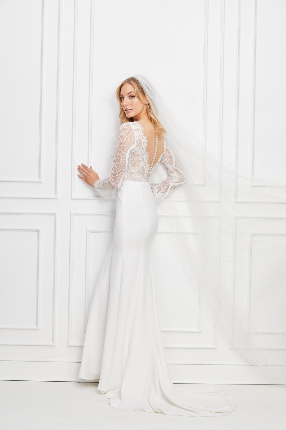 Modern Long Sleeve Wedding Dress