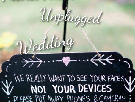 Trend Alert! Unplugged Weddings!