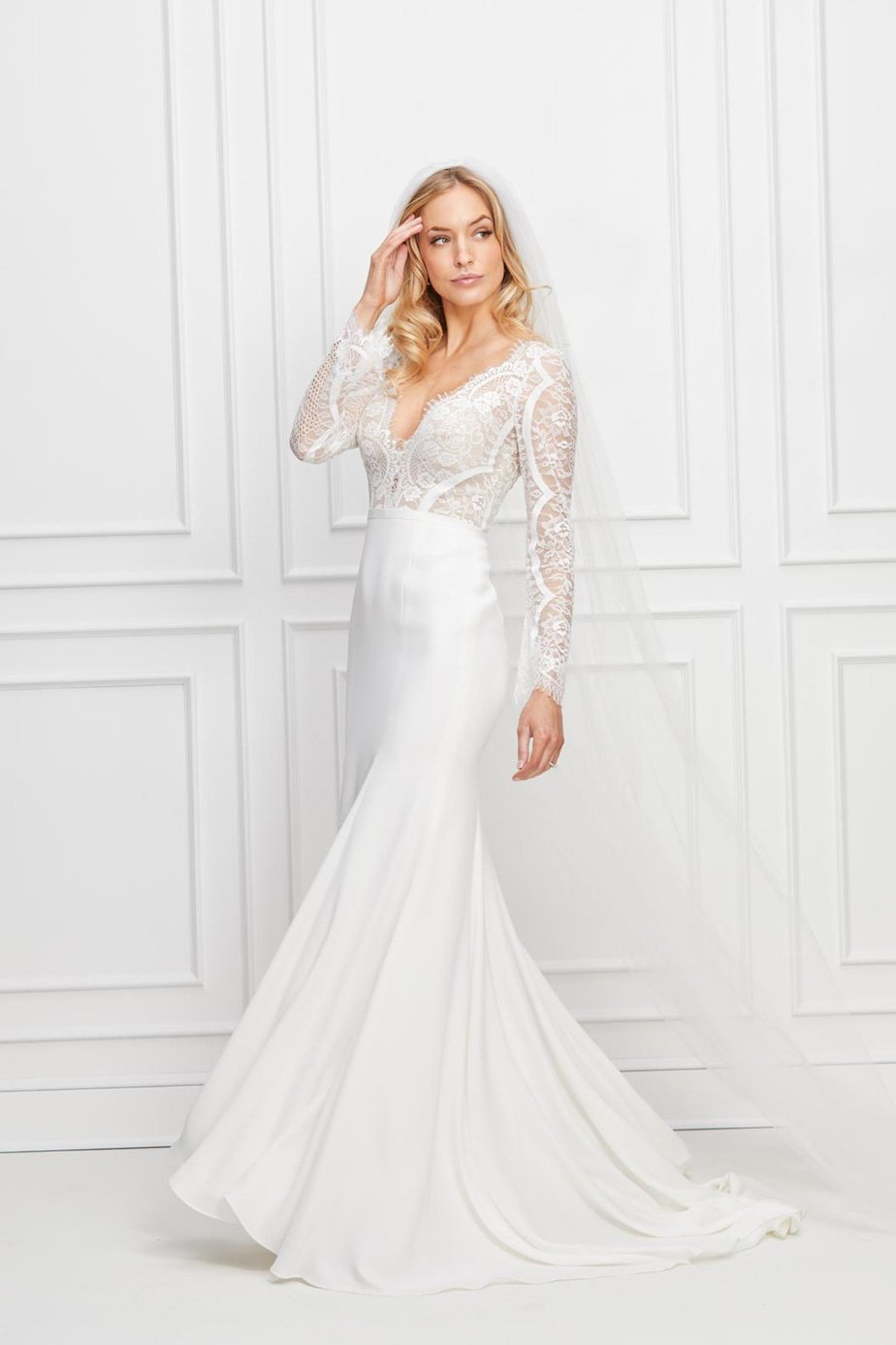 Lace Top Wedding Dress with Sleeves