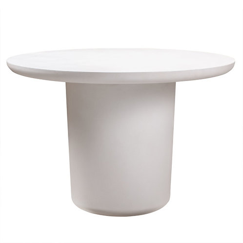 """Modern Ivory Concrete Dining Table, 45"""""""