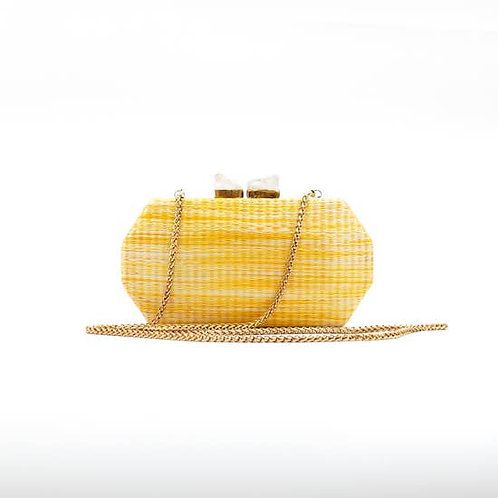 Sunshine Yellow Palm Clutch