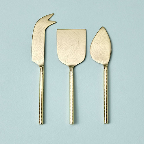 Etched + Hammered Cheese Set