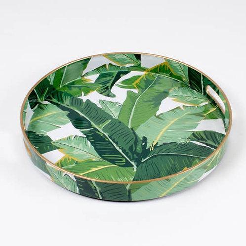 Palm Leaf Round Tray
