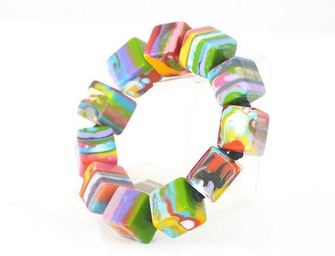 Multi-Color Small Cube Bracelet