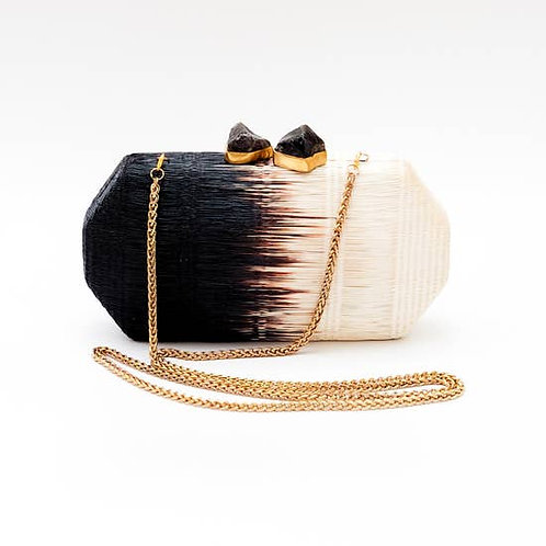 Black and White Palm Clutch