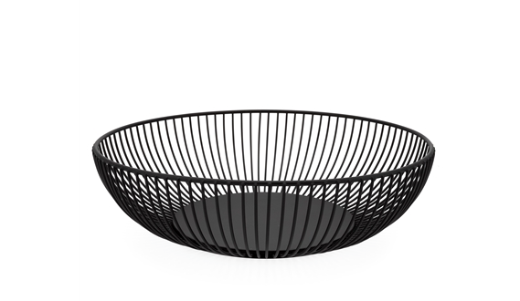 Linear Black Metal Bowl