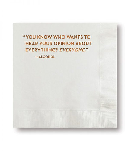 Opinion Cocktail Napkins