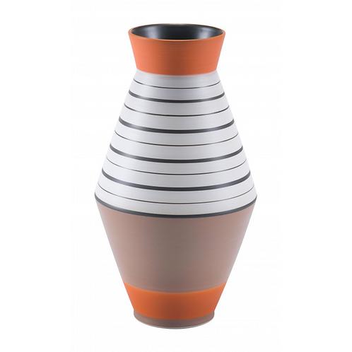 Orange Stripe Vase Small