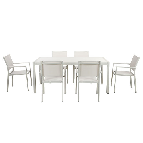 Andreas Palms 7 Piece Dining Set