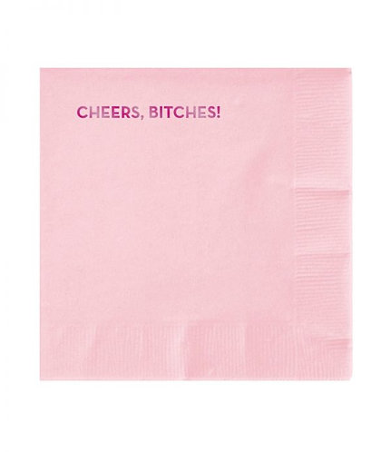 Cheers, Bitches Cocktail Napkins