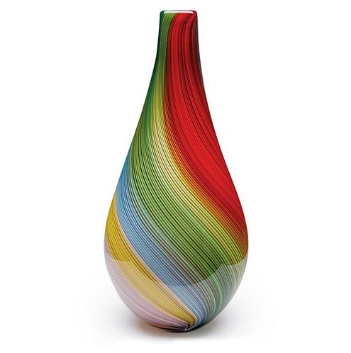 """Rainbow Twist Vase 20"""""""