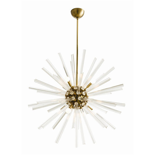 Hanley Large Chandelier, Antique Brass