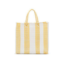Yellow 4 Lines Poolside Tote
