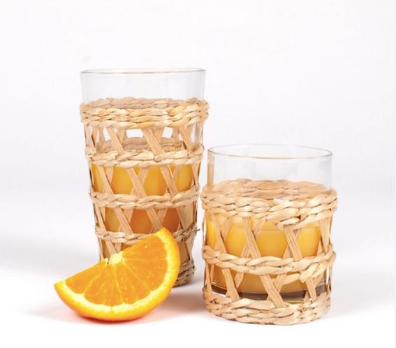 Rattan Glassware