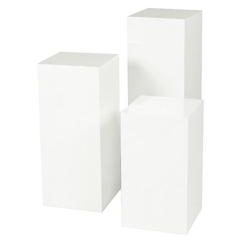 White Pedestal Set
