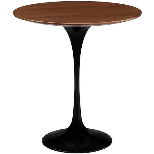 "Walnut Tulip Side Table, 20"""