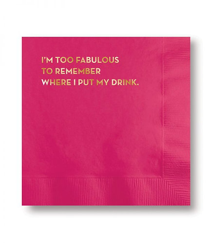 I'm Too Fabulous Cocktail Napkins