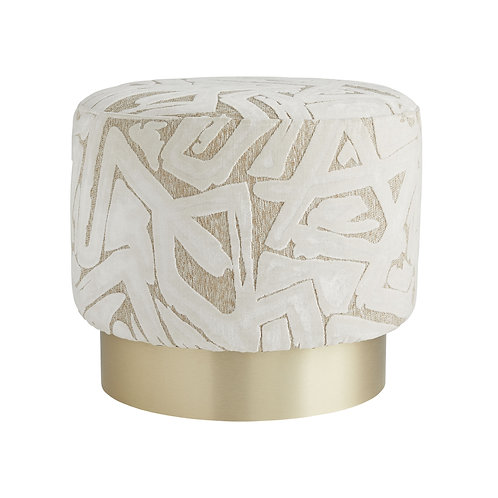 Abstract Swivel Ottoman