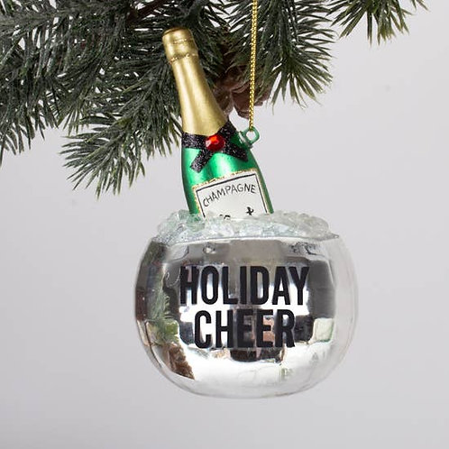 Disco Champagne Glass Ornament - Gift boxed